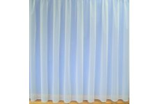 FLAME RETARDANT PLAIN WHITE NET CURTAIN LEAD WEIGHTED