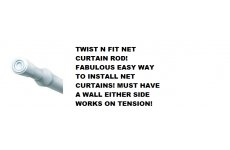 TWIST & FIT NET ROD WHITE