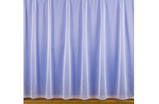 NINA WHITE NET CURTAIN:priced per metre