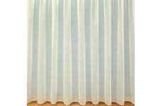 PLAIN CREAM NET CURTAIN: priced per metre