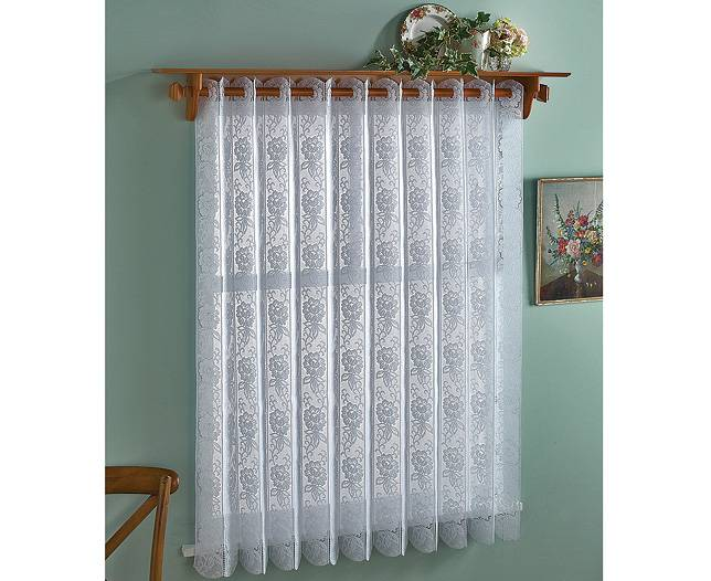 ROSE LACE VERTICAL PLEATED BLIND 183cm wide - Net Curtain ...