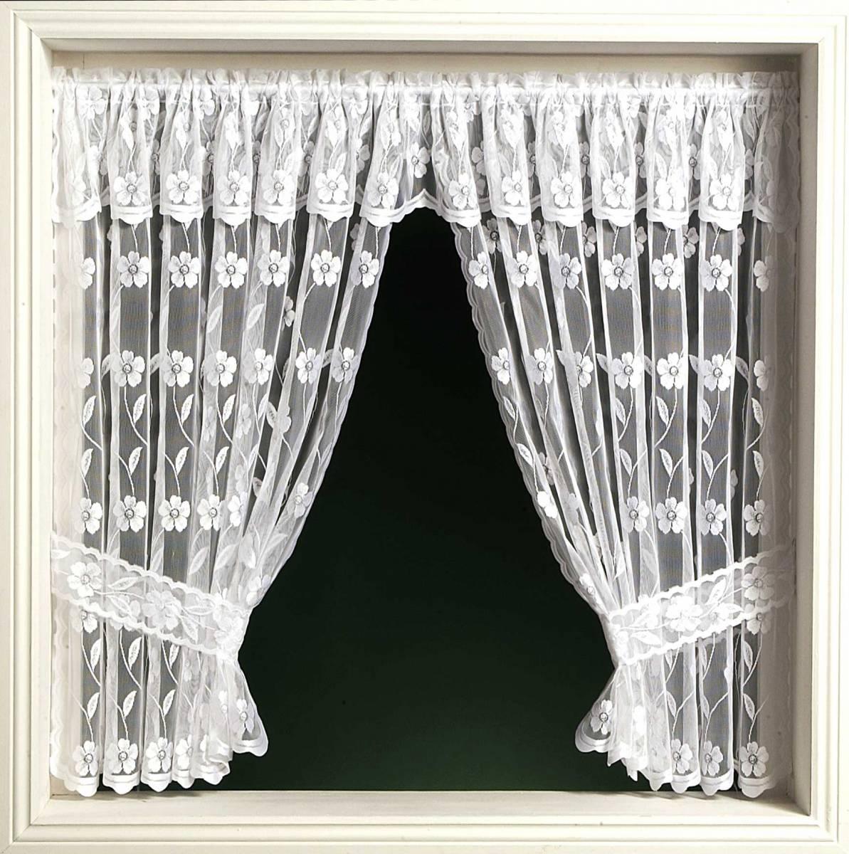 jalipur window set priced per curtain white or cream. Black Bedroom Furniture Sets. Home Design Ideas