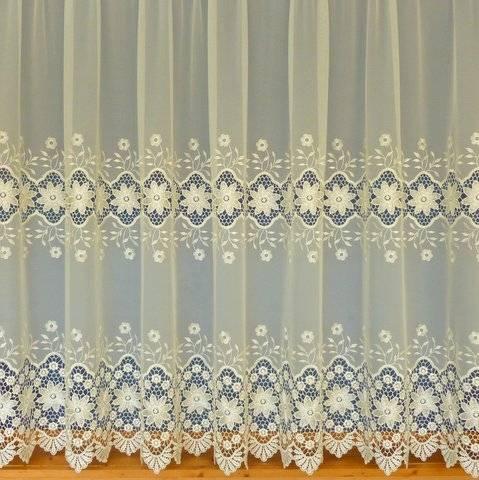 GRACE CREAM OPEN TOP/NO SLOT 285CM DROP - Net Curtain 2 Curtains
