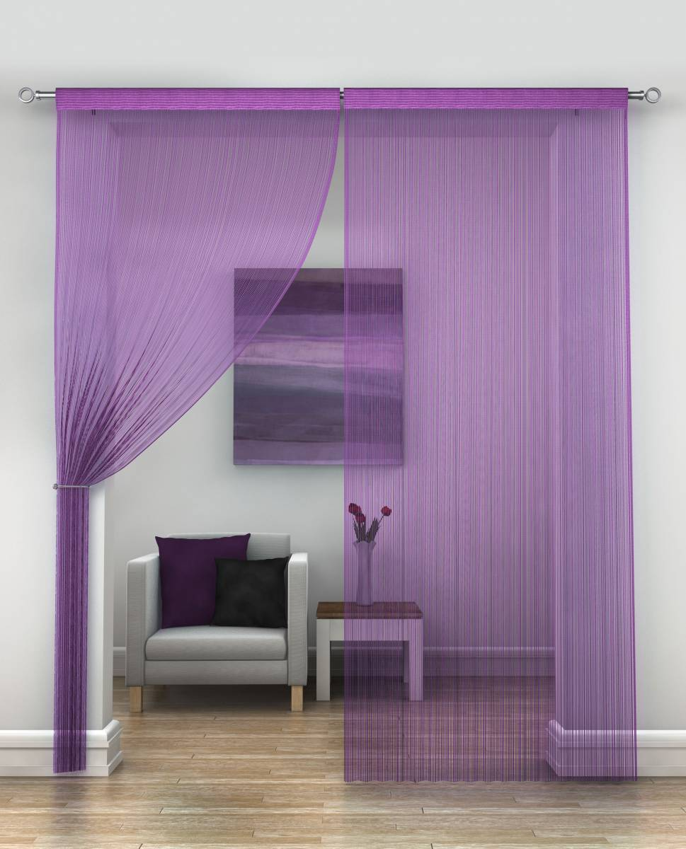 w lilac elements curtain window in x grommet p drapes wavy purple embroidered panels l wide leaves curtains panel sheer extra