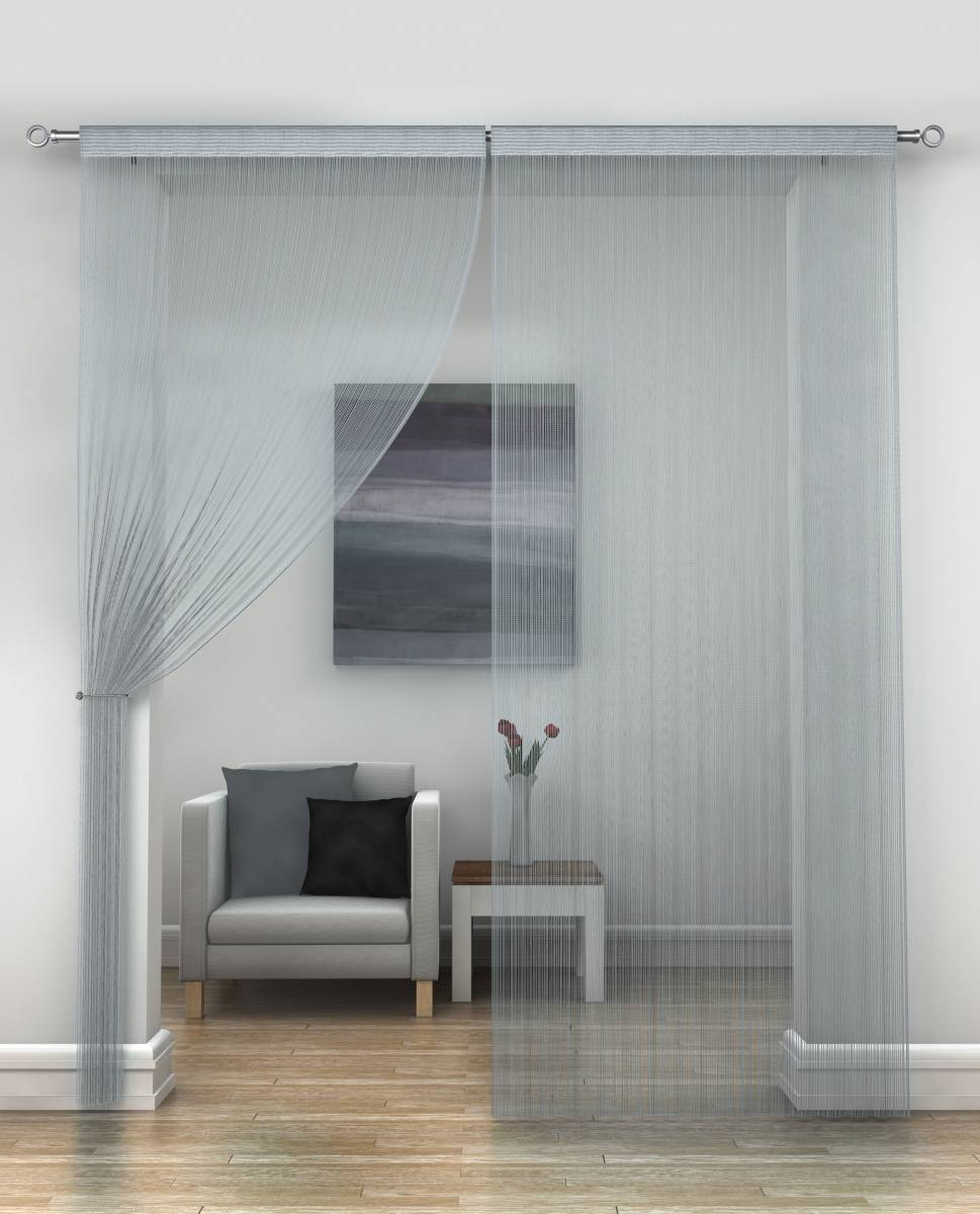 Silver String Curtains Priced Per Pair Each Panel 230cm