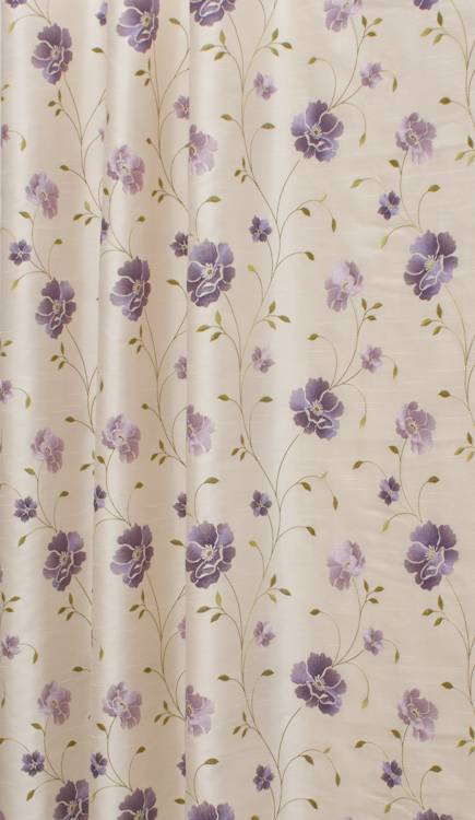 WENTWOOD LILAC EMBROIDERED FABRIC PRICED PER METRE PLEASE PUT THE ...