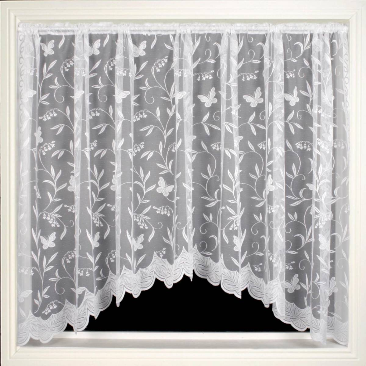 Hawaii jardiniere priced per curtain net curtain 2 curtains for Window net design