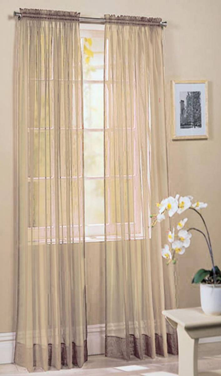 Ivory Voile Panel Buy One Get One Free Slotted Top 150cm