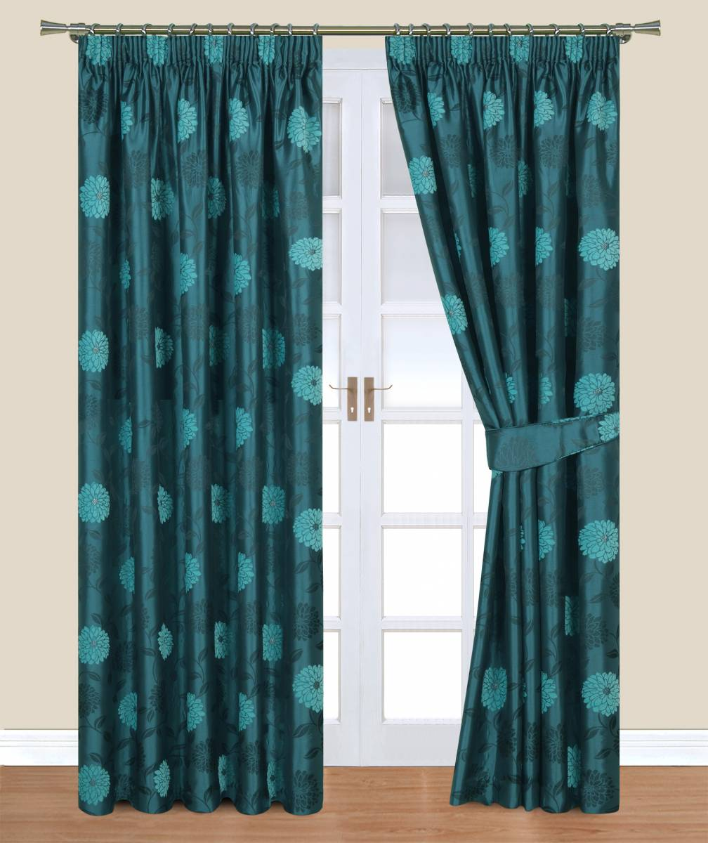 clara teal belfield curtain net curtain 2 curtains
