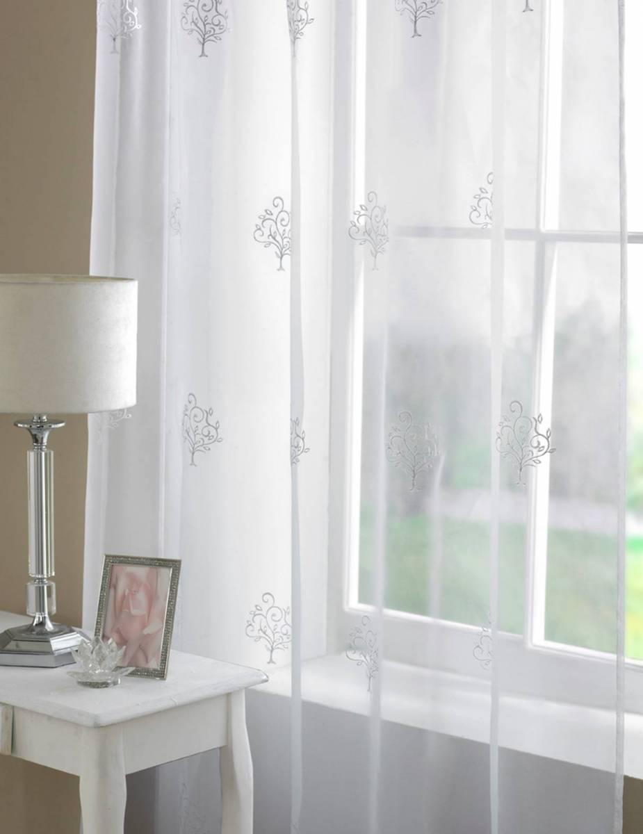 Oakmont Voile Panel Width 150cm Net Curtain 2 Curtains