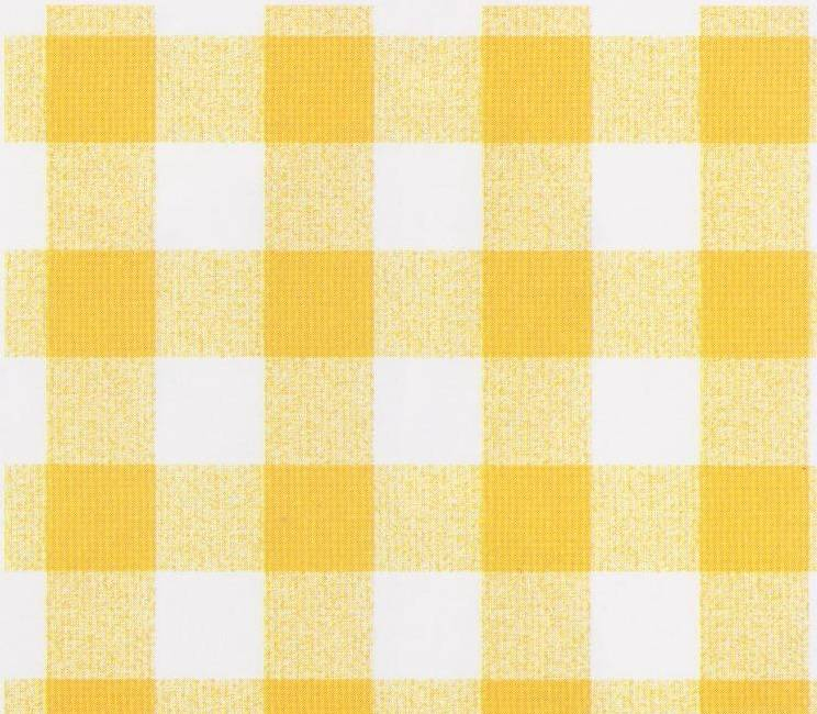 Gingham Yellow Pvc Tablecovering Justwipe Roll End 2mtrs