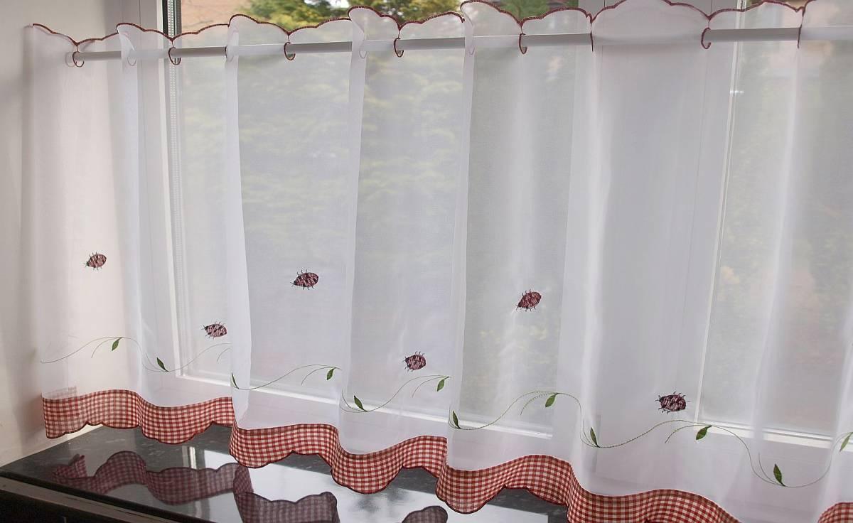 Ladybird Cafe Curtain Width 60 Net Curtain 2 Curtains