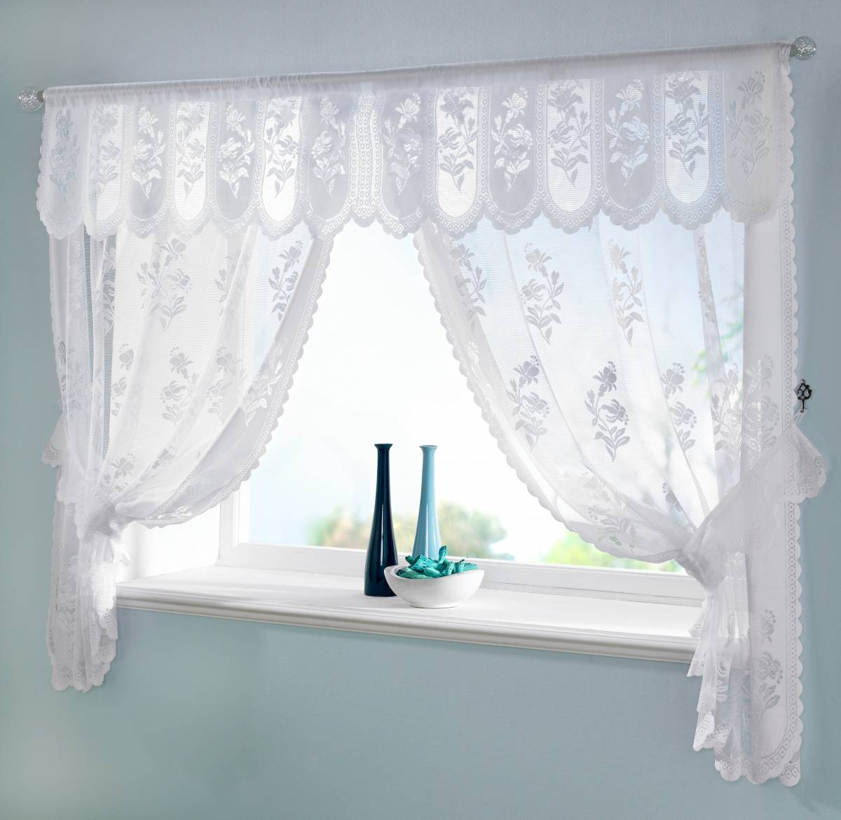 Susan window set net curtain 2 curtains for Window net curtain