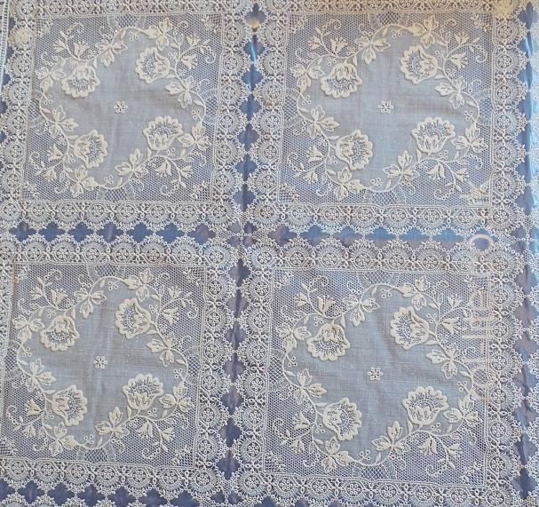 CREAM LACE LOOK DESIGN 71: PRICED PER METRE - Net Curtain 2 Curtains