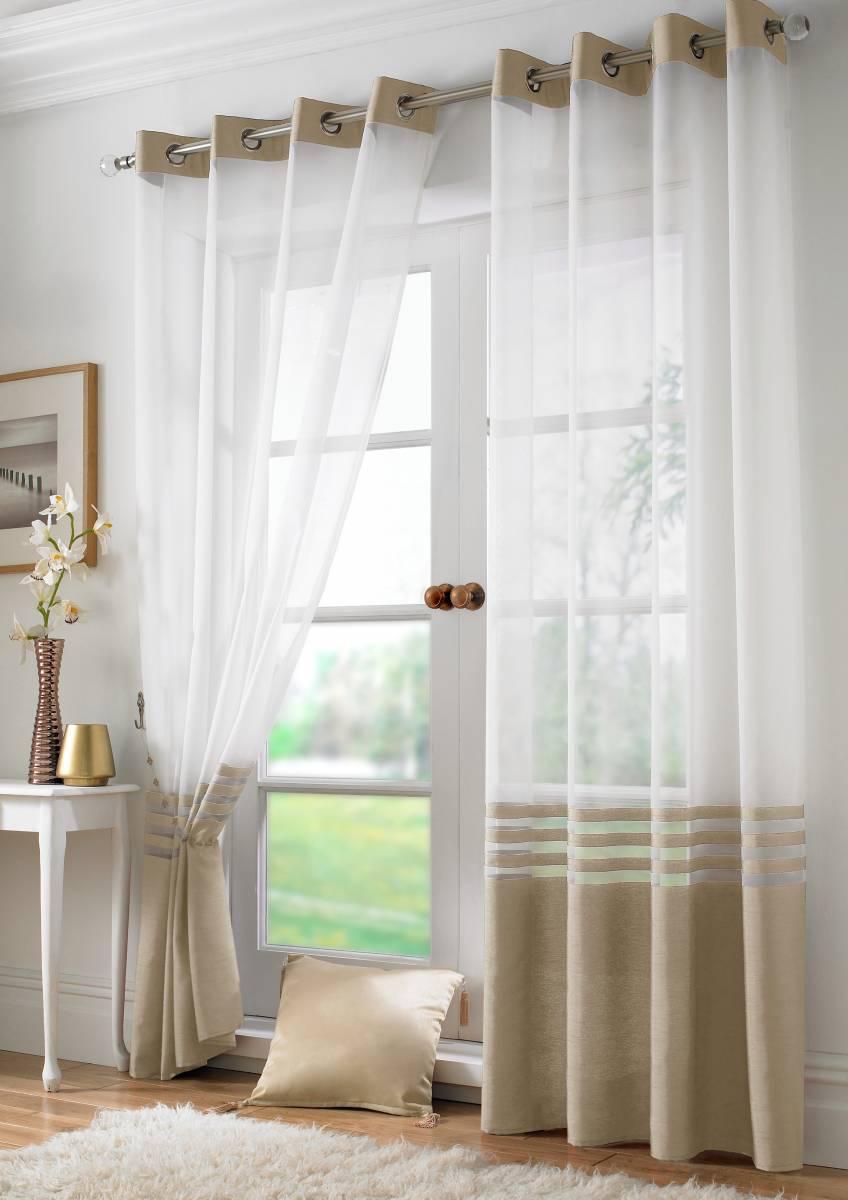 Park Lane Voile Panel Ringtop Width 150cm Net Curtain 2