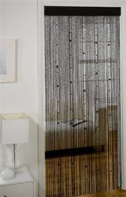 FAUX PEARL BEADED STRING CURTAIN - Net Curtain 2 Curtains