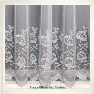 FREYA WHITE EMBROIDERED VOILE limited stock