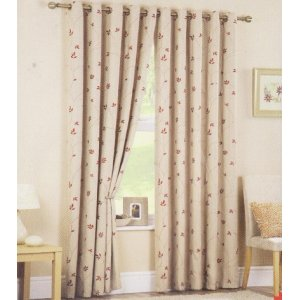 ROCHELLE EYELET TOP LINED CURTAINS