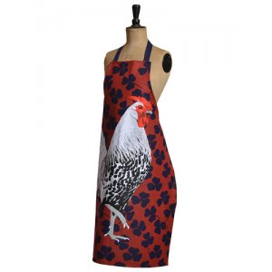 ROOSTER APRON BY LESLIE GERRY