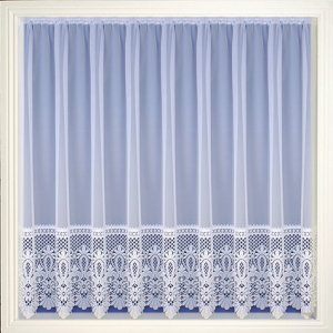 BRAZIL WHITE NET CURTAIN: priced per metre