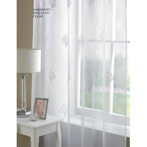 OAKMONT WHITE VOILE PANEL CLEARANCE