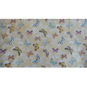 CREAM BUTTERFLY  WIPE CLEAN PVC PRICED  PER METRE CHANGE QUANTITY IN THE BOX 140CM WIDE