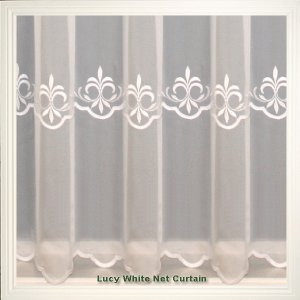 LUCY WHITE NET CURTAIN:discontinued