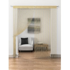 GOLD TWIST STRING PANEL 95CM WIDE X 230CM DROP price is per panel