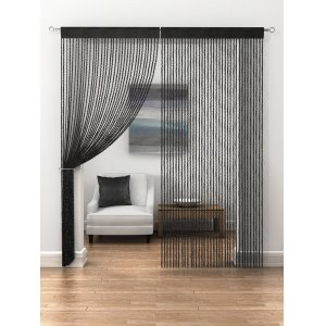 BLACK TWIST STRING PANEL price is per panel 95cm wide x 230cm drop