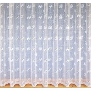 IZZY WHITE NET CURTAIN: priced per metre