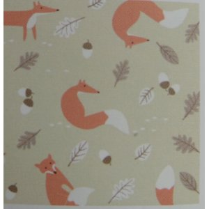 MR FOX NATURAL 100% COTTON 140CM WIDE PRICE IS PER METRE CHANGE QUANTITY IN THE BOX on sale