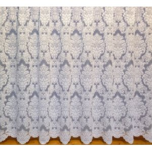 MAXINE WHITE NET CURTAIN: priced per metre