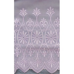 TIANA WHITE EMBROIDERED VOILE