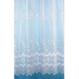 KEISHA WHITE EMBROIDERED VOILE