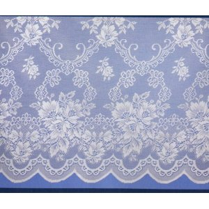 Filigree of Nottingham White Net Curtain Design Name Newcastle