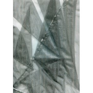 Organza Pewter 150cm wide fabric price is per metre