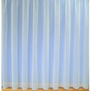 Fire Retardant  Brooke white plain net curtain with lead weighted base