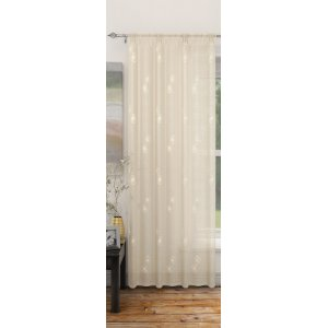 FR TREATED DOVER CREAM CURTAIN PANEL 140CM WIDE