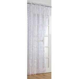 ECLIPSE WHITE CURTAIN PANELS 56 INCHES