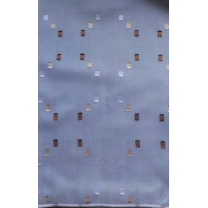 Cuba white voile with embroidered squares