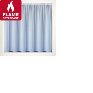 Vermont FR white voile net curtain