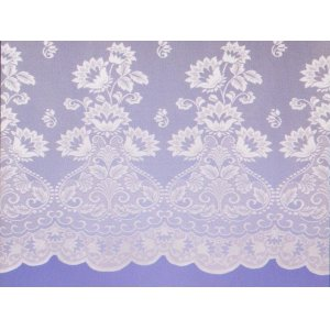 NAPLES WHITE  NET CURTAIN: priced per metre