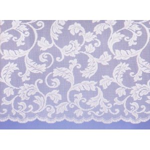 BRUGES WHITE NET CURTAIN: priced per metre