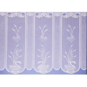 SWAN CAFE CURTAIN WHITE