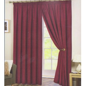 PERTH RED READY MADE CURTAINS: