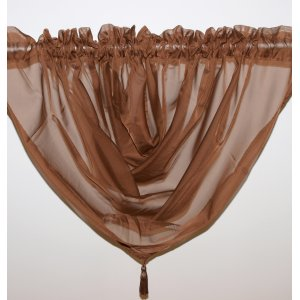 PLAIN VOILE SWAG CHOCOLATE: