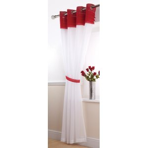 SIENA WHITE/RED VOILE