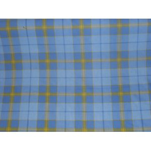 RADFORD BLUE BACKGROUND WITH YELLOW STRIPES PRICE IS PER METRE