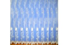 MARY-ROSE WHITE NET CURTAIN: priced per metre