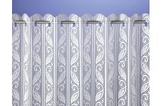 CORSICA PLEATED LACE BLIND white or cream